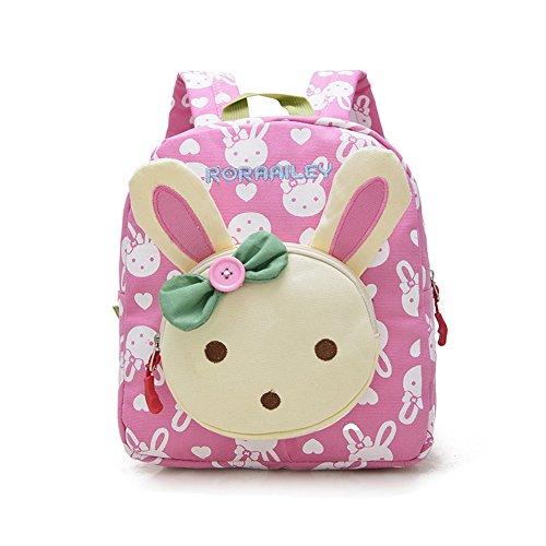 DafenQ Cute Rabbit Animals Baby Toddler Backpack Nursery Kindergarten Kids  School Book Bag (Pink) 2cc47c014a0c7