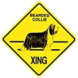 KC Creations Bearded Collie Xing Caution Crossing Sign Dog Gift