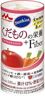 クリニコ Sunkist(サンキスト) くだものの栄養+Fiber アップル&キャロット 125mL