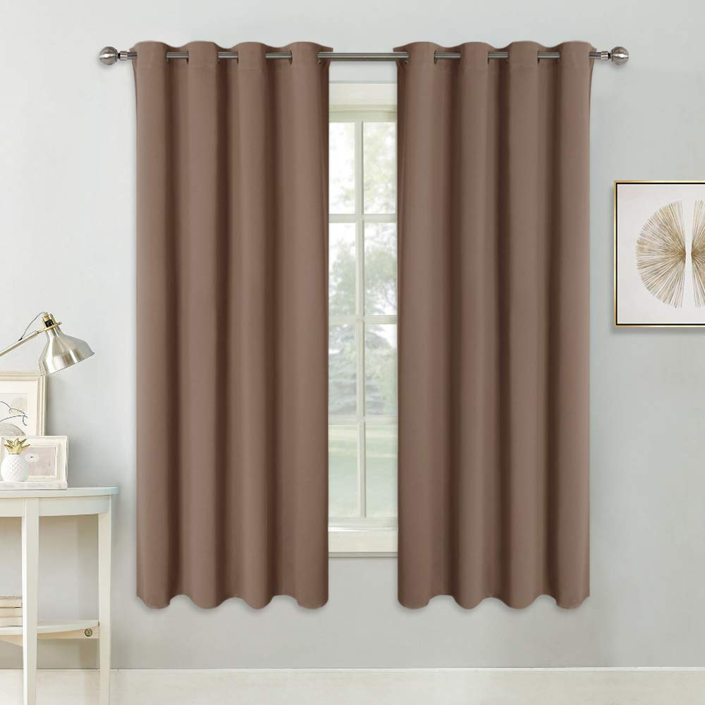 Black Room Darkening Curtain Panels Eyelet Top For Shades Small Thermal Insulated Drapes For Kitchen Pony