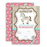 Horse, Show Horse, Birthday Party Fill In Invitations, Set of 10 5 X 7 Cards Including Ten White Envelopes by AmandaCreation