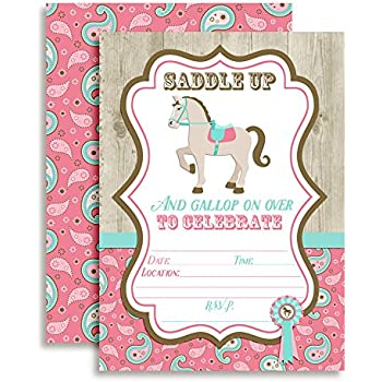 Amazon horse show horse birthday party fill in invitations horse show horse birthday party fill in invitations set of 10 5 x filmwisefo