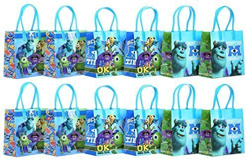 Disney Pixar Monsters University Party Favor Goodie Gift Bag - 6 Small Size (12 Packs) by Monsters University ()