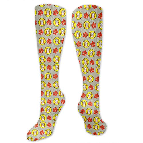 - Hd8yehao Unisex Adult Cotton Crew Socks Dabbing Unicorn Softball Flower Dress Socks