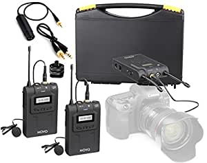 movo dual uhf wireless lavalier microphone system for canon eos 80d 77d 70d 60d. Black Bedroom Furniture Sets. Home Design Ideas