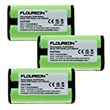Floureon 3-Pack Replacement Cordless Phone Batteries for Vtech 2489, 2621, 2652, 5801, 5820, Office Central