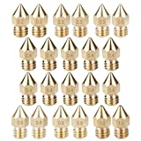 OOTSR 22pcs 3D Printer Nozzles, Brass Nozzle Print Head 0.2mm, 0.3mm, 0.4mm, 0.5mm, 0.6mm, 0.8mm, 1.0mm MK8 Extruder Nozzle for 3D Printer Makerbot Creality CR-10