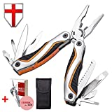 Best Multitool with Knife Pliers Screwdriver Opener Multifunction Knife 11in1 – Utility Pocket Multi Tool Set Kit All In Multitool – Multipurpose Tool for EDC Outdoor Camping Fishing Survival 2241