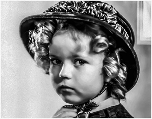 ArtDash® Photo Art Print by Actress SHIRLEY TEMPLE Black and White Portrait (8''×10'' print) by ArtDash®