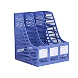 HaloVa File Holder, Multipurpose Large-capacity Desk Organizer, Thickened Desktop File Sorter for Home Storage Magazine Literature Office Supplies, Blue