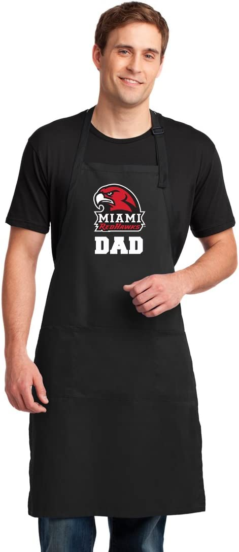 Broad Bay Miami University Dad Apron Large Size Miami Redhawks Dad Gift for Men Man Him