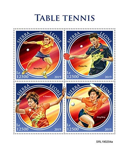 Sierra Leone - 2019 Table Tennis - 4 Stamp Sheet - SRL190204a (Best Ping Pong Table 2019)