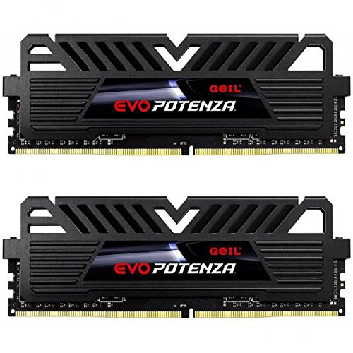 - GeIL EVO Potenza 16GB (2 x 8GB) 288-Pin DDR4 SDRAM DDR4 2400 (PC4 19200) Desktop Memory Model GPB416GB2400C16DC