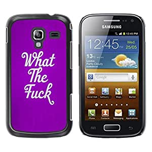 LECELL--Funda protectora / Cubierta / Piel For Samsung Galaxy Ace 2 I8160 Ace II X S7560M -- The Purple Text Quote Rebel Punk --