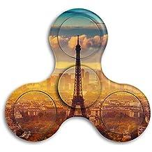 Eiffel-tower-wallpapers Adults & Children High Speed Tri-Spinner Hands Spinner Fidgets Fingertip Finger Toy Bearing Toy