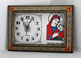 Christian Oriental Wall Clock / God bless our home / St Mary holding Jesus / Home Decorative