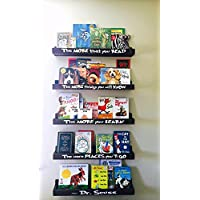 Dr Seuss Book Shelf Set, Floating Book Ledge, Dr Seuss Furniture, Childrens Bookcases, Book Storage, Book Organization. Little Library, Nursery Decor, Book Shelves, Nursery Furniture, Wall Book Shelf