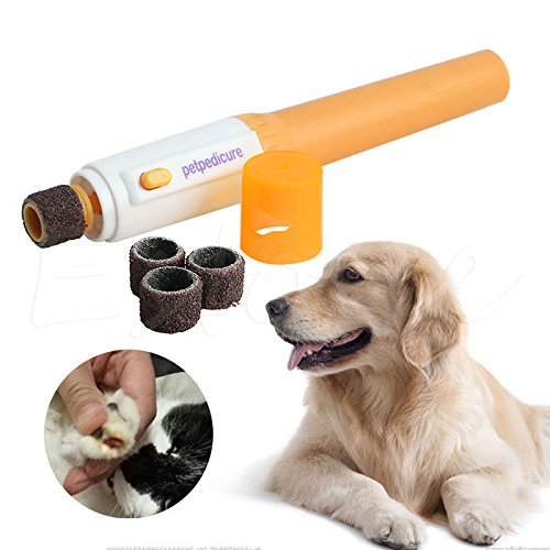 GIG Electric Dog Cat Pet Claw Toe Nail Trimmer Tool Care Grooming Grinder Clipper (Skull Sock Mask)