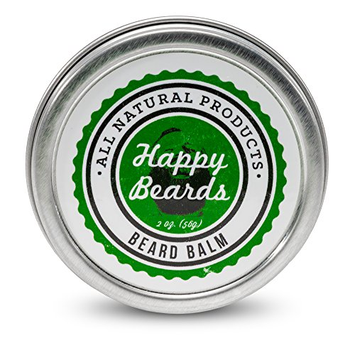 Beard Balm/Conditioner by Happy Beards (2 oz) - Leave In Conditioner/Softener for Men - Best Beard Oil Alternative That Is: Handcrafted in USA, Will Shape,Soften,Condition and Groom Your Beard.