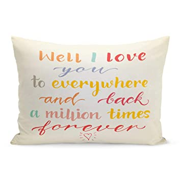 Amazon.com: Semtomn Throw Pillow Covers Well I Love You to ...