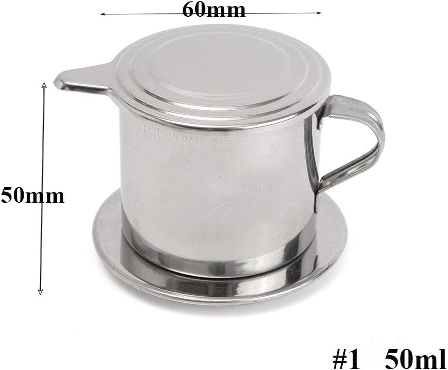 Amazon Com Vietnamese Coffee Filter Maker Stainless Steel Vietnam Vietnamese Coffee Simple Drip Filter Maker Infuser New 50ml Kitchen Dining