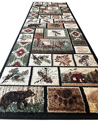 (Carpet King Cabin Style Runner Area Rug Rustic Native American Western Country Bear Elk Deer Wildlife Lodge Native Design 386 (2 Feet 2 Inch X 7 Feet 2 Inch))