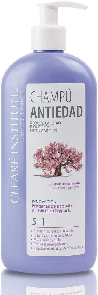 Clearé Institute. Champú Reparador Antiedad. Ingredientes Naturales. 400 ML