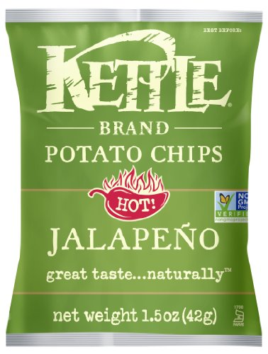 Kettle Brand Potato Chips, Jalapeno, 1.5-Ounce Bags (Pack of 24)