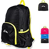 Cheap 25L Ultra Lightweight Packable Backpack Water Resistant Hiking Daypack,Small Backpack Handy Foldable Camping Outdoor Backpack Little Bag (Black)
