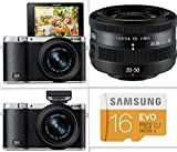 Samsung NX3000 Wireless Smart 20.3MP Mirrorless Digital Camera with 20-50mm Lens Kit and Flash + Adobe Photoshop Lightroom 5 Plus + 16 GB Memory Card