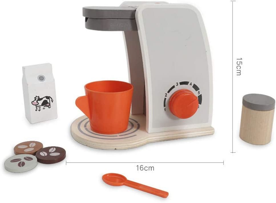 Ulalaza Máquina de café de Madera Simulación Cocina Chef Juguetes ...