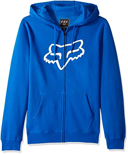 Vos Heren Standaard Fit Legacy Logo Zip Sweater Met Capuchon Blauw