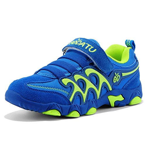 GUBARUN Kids Running Sport Shoes Comfortable Athletic Sneakers Casual Trainers for Boys Girls(Blue/Green,8.5) (Pokemon Shoes Boys)