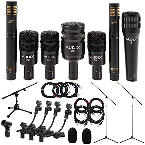 - Audix DP7 Microphone Drum Package - with Stands and Cables