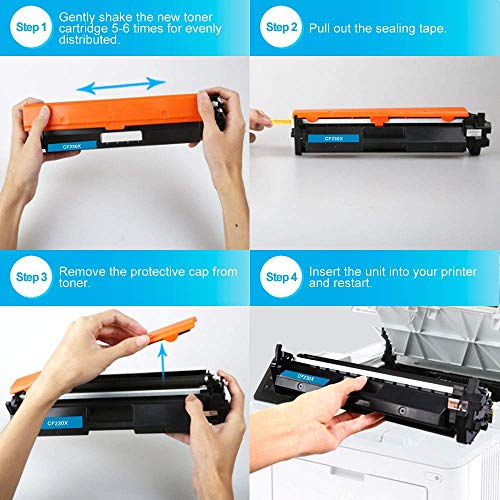 Color4work Compatible Toner Cartridge Replacement for HP 30X 30A CF230A CF230X High Yield Black, 1-Pack, use with HP 32A CF232A Imaging Drum Photo #6