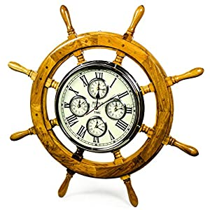 51nNkQTZB4L._SS300_ Best Ship Wheel Clocks