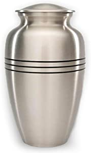 Beautiful Life Urns Adult Cremation Urn - Dignity Pewter, Large Cremation Urn