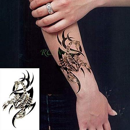 ljmljm Tatuaje Impermeable de la Etiqueta engomada 4pcs Fija el ...