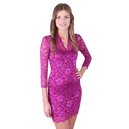 John Zack - Robe - Cocktail - Manches 3/4 - Femme rose rose