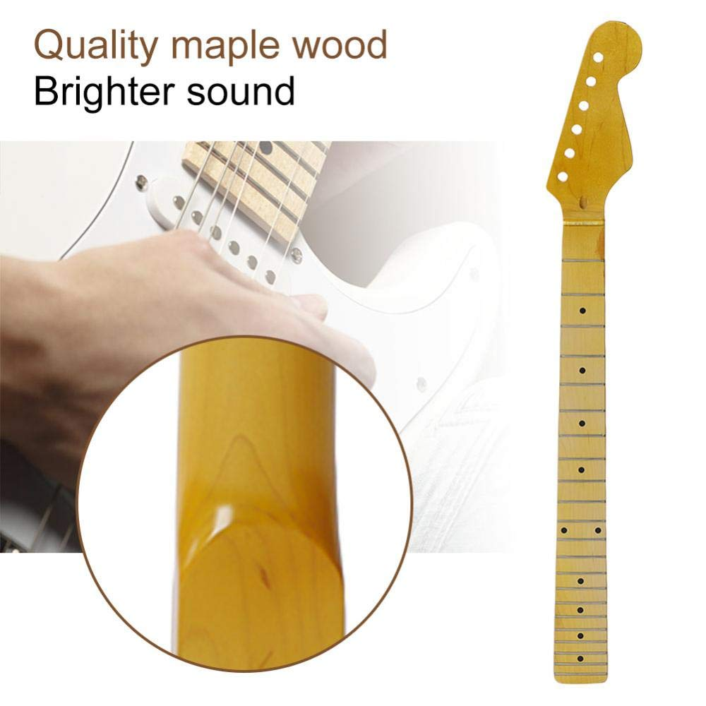 Amazon.com: Maple Guitar Neck, 22 Fret Electric Guitar Neck Blank for Bolt-on Neck Parts Maple Fingerboard Replacement: Musical Instruments