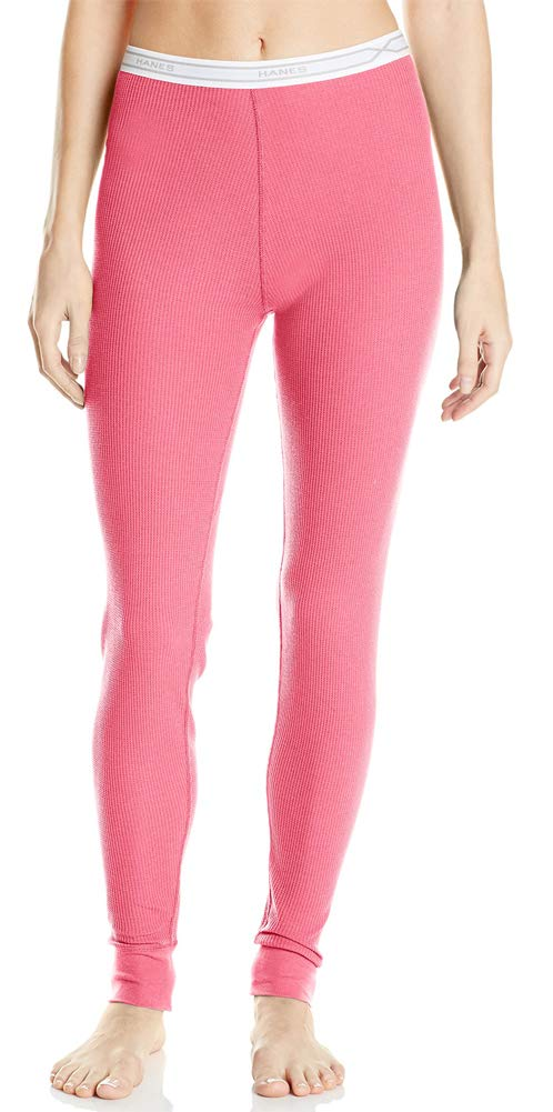 Hanes Women's  X-Temp Thermal Pant, Carmine, Medium