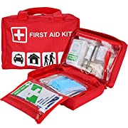 ProCase First Aid Kit, All-Purpose Survival Kit with 96 Pieces Medical for Car, Home, Office, Sports, Travel, Outdoors…