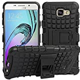 CEDO Premium Hybrid Military Grade Armor Kickstand Back Cover Case for Samsung Galaxy A5(6) 2016 A510 - Black