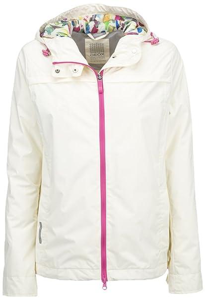 white Bianco Giacca Lychee 38 xs Donna Geox W6221ct2224 awZBgqqP