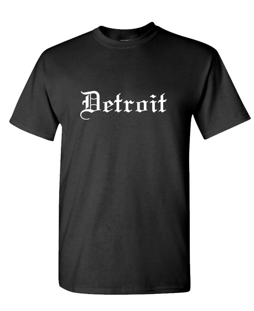 The Goozler Detroit Gothic Font - Thug Rap Hip hop Music Tee Shirt T-Shirt, 2XL, Black by The Goozler