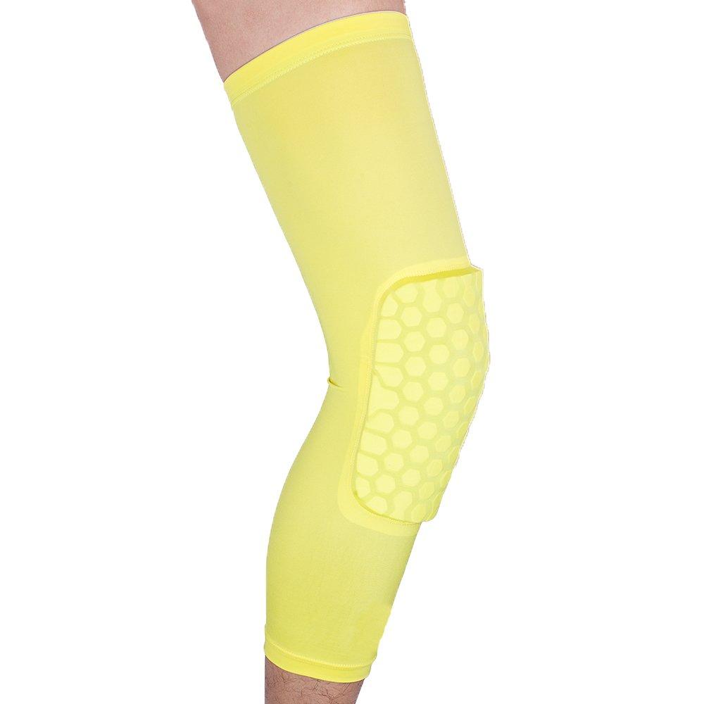 Reachs Strengthen Kneepad Honeycomb Knee Pads Crashproof Antislip Leg Sleeve Basketball Protective Pad Support