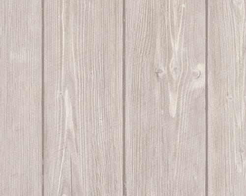 AS-Creation-896827-Wood-n-Stone-Papel-pintado-imitacin-madera-color-beige-y-marrn