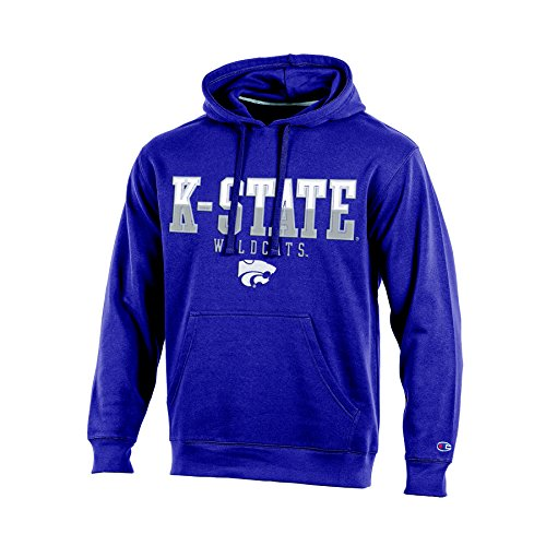 NCAA Kansas State Wildcats Adult Men Pullover Hooded Fleece, Medium, Purple