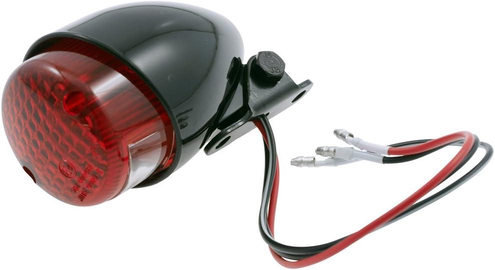 Mini Rücklicht Bremslicht Schwarz E Geprüft Für Chopper Custom Motorrad Auto
