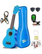 Soprano Ukulele Beginner Pack-21 Inch w/Gig Bag Fast Learn Songbook Digital Tuner All in One Kit…